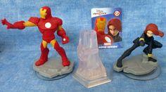 Disney Infinity Marvel Avengers Ironman, Black Widow, Crystal Figures Characters #Disney