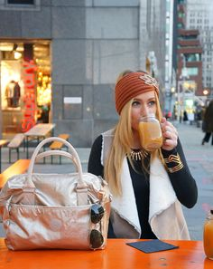 Apple Cider and Kipling Handbag | Minnie in Manhattan