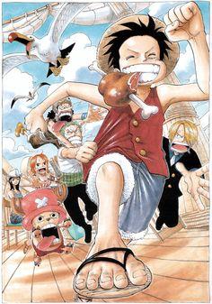 oda eiichirou one piece monkey d luffy nami nico robin roronoa zoro sanji tony tony chopper usopp Anime One Piece, One Piece 1, One Piece Luffy, One Piece Season 1, One Piece Crew, Single Piece, Anime Naruto, Manga Anime, Comic Manga