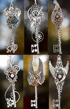 KeypersCove on deviantART Key Jewelry, Cute Jewelry, Jewelry Accessories, Instagram Baddie, Dragon Jewelry, Keys Art, Magical Jewelry, Key To My Heart, Key Necklace
