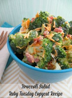 Broccoli Salad Recipe (Ruby Tuesday's Copycat) - From Val's Kitchen