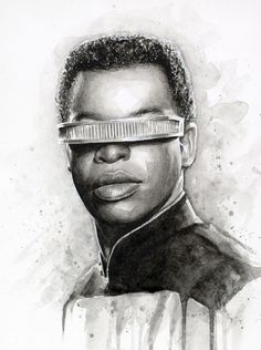 Geordi La Forge - Star Trek by Olga Shvartsur