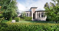 This Adelaide front garden received a stately new look by after some well placed hedge plants, that added both privacy and functionality to a newly bare entryway. Short Haircuts With Bangs, Garden Hedges, Privacy Plants, Curb Appeal, Landscape Design, Lush, Home And Garden, Backyard, Exterior