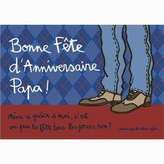 """Carte """"Bonne Fête d'Anniversaire Papa !"""""""
