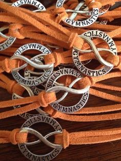 Gymnastics Forever Bracelet....custom colored strap