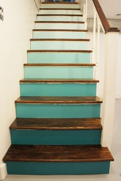 Interior Design, Renovation, Decoration, Furniture - archiparti is an award-winning interior design management service for go-getters. Painted Stair Risers, Painted Staircases, Redo Stairs, House Stairs, Simple Bedroom Decor, Diy Home Decor, Diy Kids Kitchen, Stair Decor, Interior Stairs
