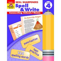 It has been proven that children benefit immensely when parents take an active role in their education. Skill Sharpeners Spell & Write provides grade-specific practice designed to keep written languag