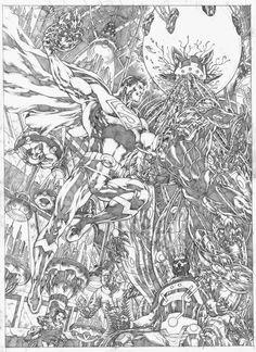Superman vs Lex & Braniac by Allan Goldman
