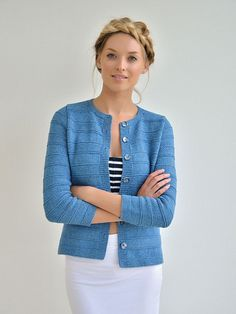 Dune pattern by Kim Hargreaves, in Rowan Original Denim from book Echoes (Spring 2015)