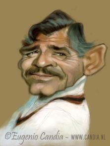 Clark Gable by Eugenio Candia                                                                                                                                                     More