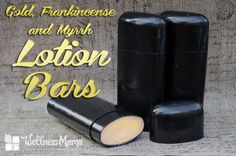 These Gold Frankincense and Myrrh Lotion Bars combine shea butter, coconut oil and beeswax with gold mica powder and frankincense and myrrh essential oils.