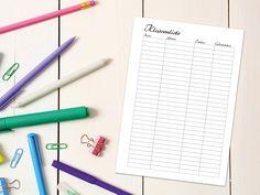 """DIN A5 - A5 Lehrer Kit """"Schoolio"""" - Klassenliste"""