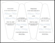 Wedding Program Fan Template Free Templates