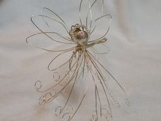 Christmas Silver Wire Angel decoration ornament wire sculpture