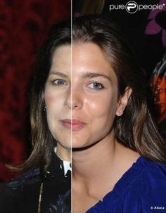 A spilt image of Princess Caroline of Monaco and her daughter Charlotte Casiraghi