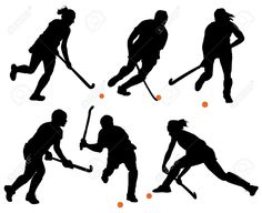 Field Hockey Silhouette on white background - stock vector Kids Silhouette, Silhouette Projects, Hockey Drawing, Hockey Posters, Field Hockey Sticks, Hockey Boards, Hockey Gifts, Hockey Season, Free Hand Drawing