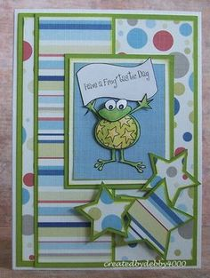 Cute frog card to go with a frog gift!