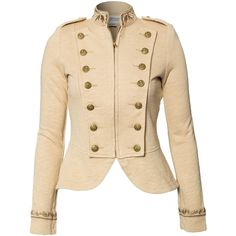Denim & Supply Ralph Lauren Zipper Front Jacket ($235) ❤ liked on Polyvore featuring outerwear, jackets, coats, denim, coats & jackets, almond, womens-fashion, zipper jacket, tall jacket and high neck jacket