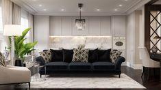 Riverside - apartment in classic style on Behance Luxury Decor, Luxury Interior Design, Riverside Apartment, Classic Interior, Traditional Decor, Luxury Living, Decoration, Home Decor Inspiration, Diy Bedroom Decor