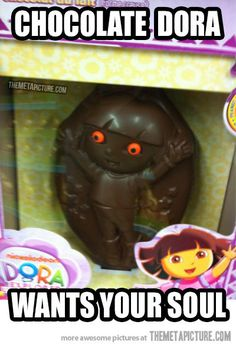 This has got to be THE creepiest chocolate I've ever seen