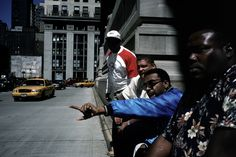 Alex Webb - USA. New York City. July 2001. American director Spike LEE directing a commercial.