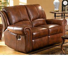 rocker recliner loveseat leather