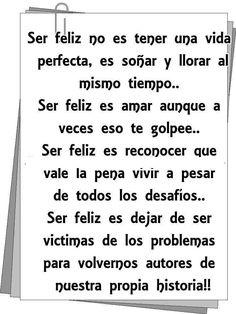 .ser feliz
