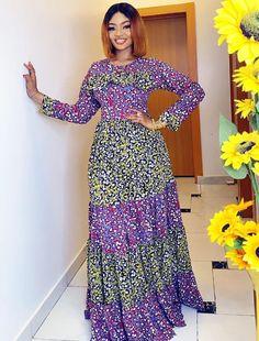 Ankara Long Gown Styles, Latest Ankara Styles, Dress Styles, Skirt Fashion, Fashion Dresses, What To Wear To A Wedding, African Fashion, Nigerian Fashion, How To Look Classy