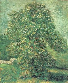 Chestnut Tree in Bloom, Vincent van Gogh 1887