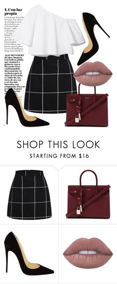 """""""Vine"""" by samivillacis on Polyvore featuring moda, Yves Saint Laurent, Christian Louboutin y Lime Crime"""
