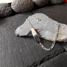 Babyarmband, Kinderarmband, 925 Silber ID Armband, Schildarmband, Gravur, GA-31