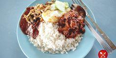 Satu pinggan Nasi Lemak Mak Wanjor, Kampung Baru hanya RM5.00