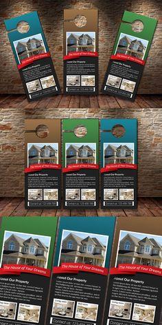 Real Estate Agency PSD Door Hanger. Stationery Templates. $6.00