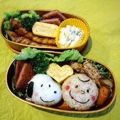 aikoサンにインスパイアされたスヌーピー達。ほど遠い出来ですが…娘喜んでくれました!が弁当をまるっと忘れて行き、追いかけるという(゚д゚lll) - 105件のもぐもぐ - 娘弁当 by TOKO