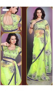 Designer Style Wedding Bridel Saree in Parrot Green Color Net | FH515778478 #wedding, #sarees, #onlineshopping, #collection, #designer, #boutiques, #sell, #india, #heenastyle, #fashion, #bridel, #saris, #blouse, #reception, #party, #ringceremony, #engagement, @heenastyle , #traditional