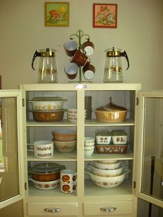 Cabinet, updated, via Flickr. ...i think this is the perfect amount of pyrex...
