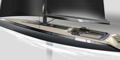 The Peugeot Design Lab concept yacht has an innovative architecture including a deck that flows completely over the cabin area. Due to the unbroken sweep of glass panels around the hull, the inter Yacht Design, Boat Design, Design Lab, Auto Design, Laser Sailboat, Sailboat Yacht, Sailing Yachts, Bmw X7, Mustang Fastback