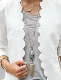 Pair the Rayne necklace with a white blazer.