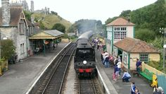 Steam train at Corfe, Isle of Purbeck, UK