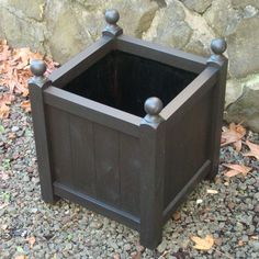 Black Wooden Planter Boxes - Wooden storage boxes are certainly 1 option in the effort. Based upon the status and fundamen Boxwood Planters, Herb Planters, Wooden Planters, Contemporary Planters, Garden Planter Boxes, Rectangular Planters, Plant Box, Backyard Landscaping, Patio Decks
