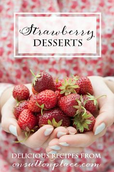 A growing collection of delish strawberry recipes that are easy and quick. From ice cream to scones, there is something for everyone!
