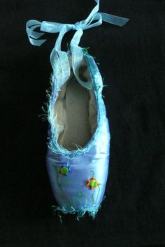 Decorative pointe shoe  ocean sea by PointePerfection1 on Etsy, $15.99