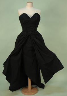 CHRISTIAN DIOR RUNWAY EXAMPLE TROMPE L'OEIL DRESS, 1949