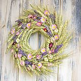 Summer wreath, dried flowers, lavender, pink Summer Wreath, Dried Flowers, Christmas Wreaths, Lavender, Floral Wreath, Holiday Decor, Pink, Dry Flowers, Christmas Garlands