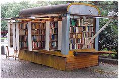 Fold-away book store