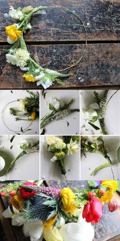 DIY flower crowns, perfect for the festival season!