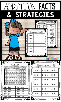 Addition Facts Worksheets - Use these basic math fact printables with your 1st or 2nd grade classroom or home school students. These work great for centers, stations, test prep, seat work, morning work, review, problem solving, and more. You get a variety of pages to help your students best learn or so you can differentiate. You'll get basic facts, games, adding 10, adding by counting up, missing addends, and much more. {first, second graders, homeschool, add} #mathfacts #addition