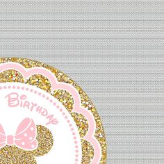 Pink and Gold Minnie Mouse Cupcake toppers, Glitter Cake Toppers, Personalized, Birthday Printables, Minnie party printable digital DIY Minnie Mouse Cupcake Toppers, Minnie Mouse Party, Mouse Parties, Bday Cards, Glitter Cake, Party Printables, Birthday Decorations, Pink And Gold, Etsy