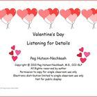 Valentine's Day Cards: Listening for Details