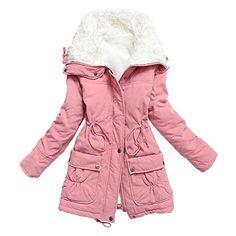 Women's Winter Warm Faux Lamb Wool Coat Parka Cotton Outwear Jacket